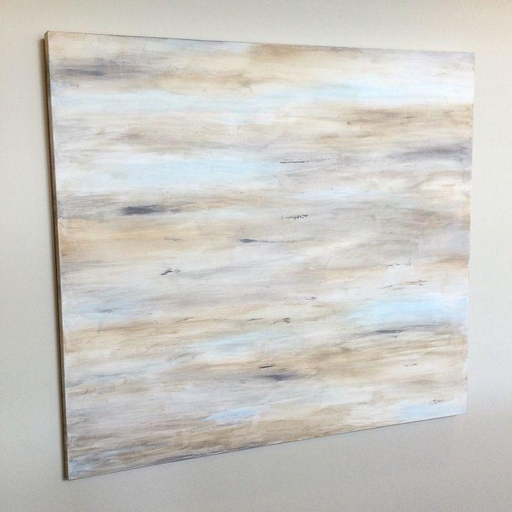 Seascape, Abstract, Original, Mixed Media, Acrylics, Neutrals colors, 48' x 60' x 1 1/2' canvas Landscape, Transitional Decor, Wall Art, Art
