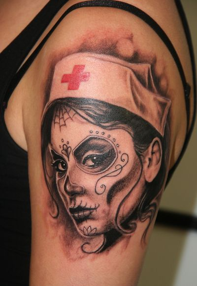 day of the dead nurse tattoos - Google Search