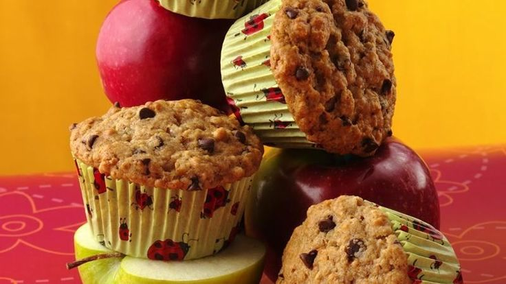 Whip up a batch of muffins with cereal, applesauce and mini chips.
