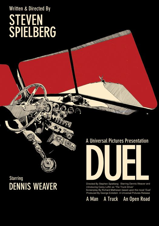 Duel - Steven Spielberg - 1971 - poster by Toby Whitebread aka New Analog Design