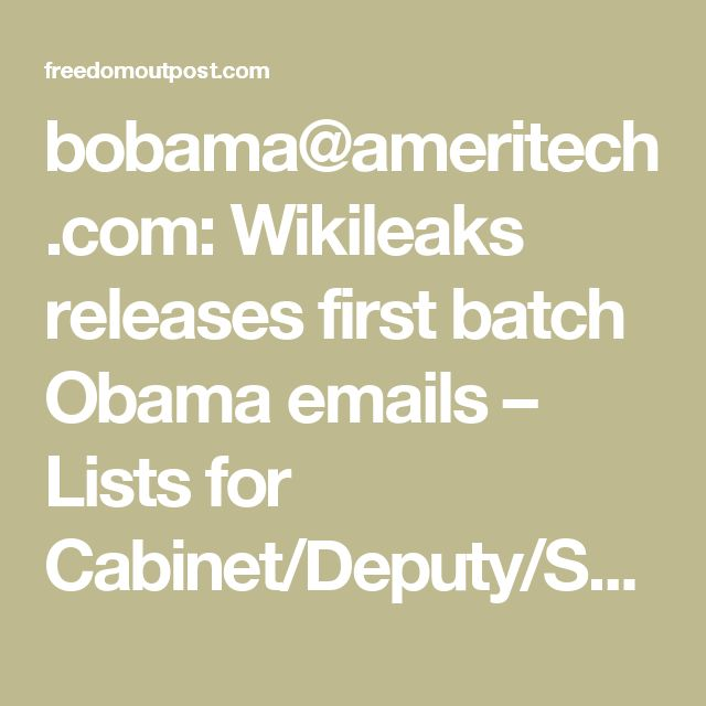 bobama@ameritech.com: Wikileaks releases first batch Obama emails ...