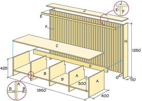 Kombinera elementskyddet med en bänk så får du två funktioner i ett.