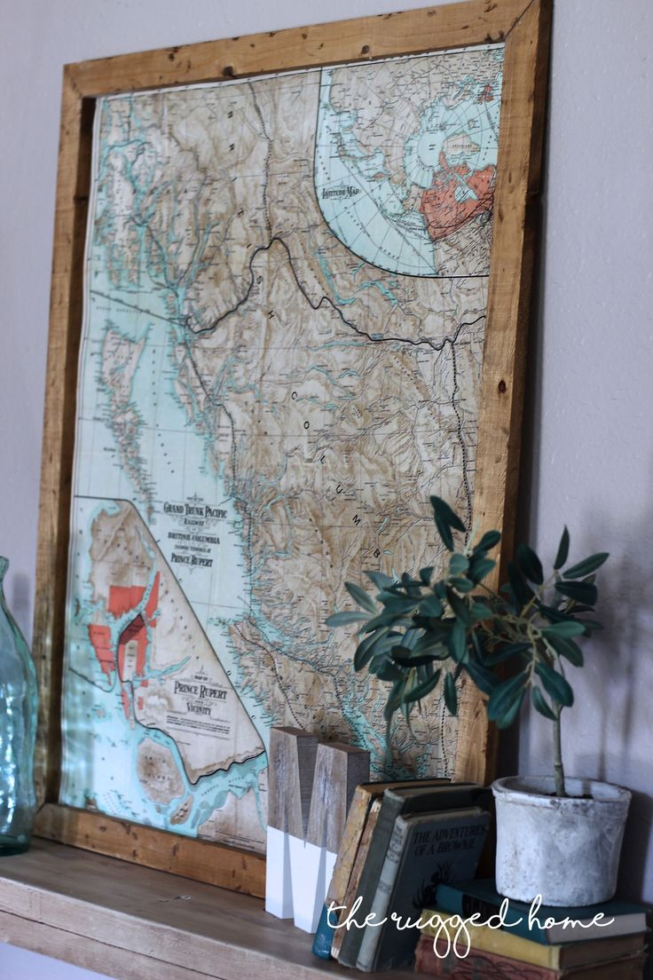 How To Decorate With Vintage Maps Simple
