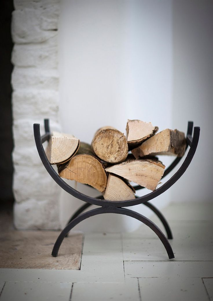 Black Iron Log Holder | Fireside | Garden Trading