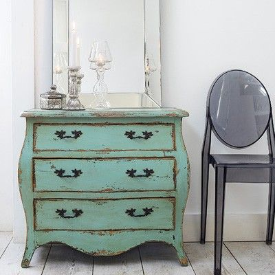 How to get the rustic furniture look! 1. Buy something cheap at a second hand store. 2. Paint the furniture, the color of your choice (a couple coats at least) 3. Once the paint is TOTALLY dry sand the edges such as around the corners and legs of your end table. Sand wherever there are details and grooves in your piece of furniture. 4. Enjoy your piece of fine vintage furniture!