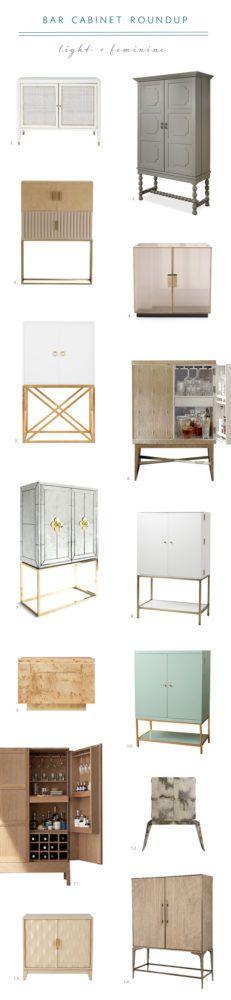 Stylish bar cabinet roundup | Light and feminine