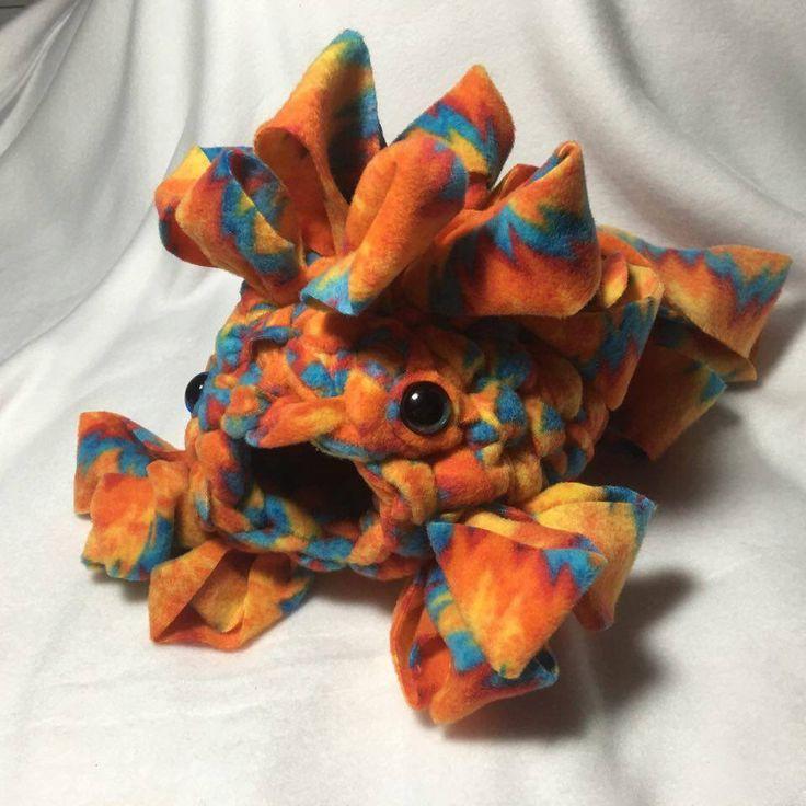 Custom crochet fleece sugar glider cage pouch lion fish