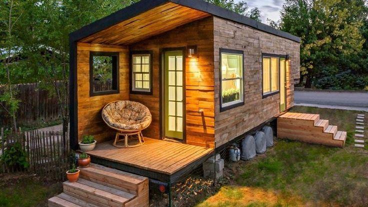 chalet de jardin habitable transformée en maisonnette élégante décorée d'un bardage bois extérieur
