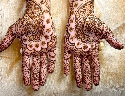 Swahili Bride With Traditional Henna Paintings