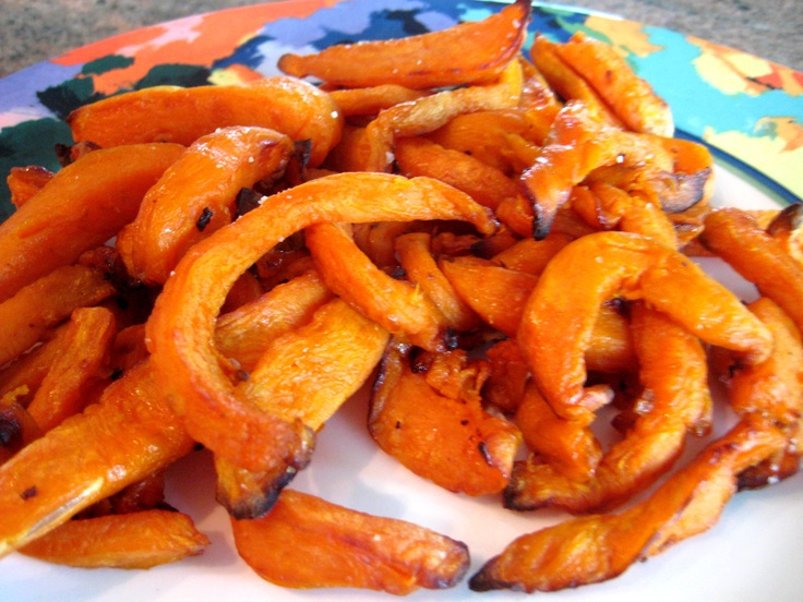 Sweet Potato Fries on the T-Fal Actifry. love the sweet potatoe spears from costco