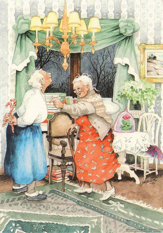 Картинки старушек веселушек