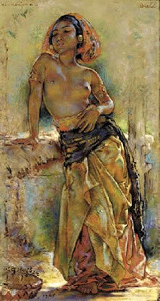 Ni Kenjoen, Bali by Willem Gerard Hofker (1902 – 1981, Dutch