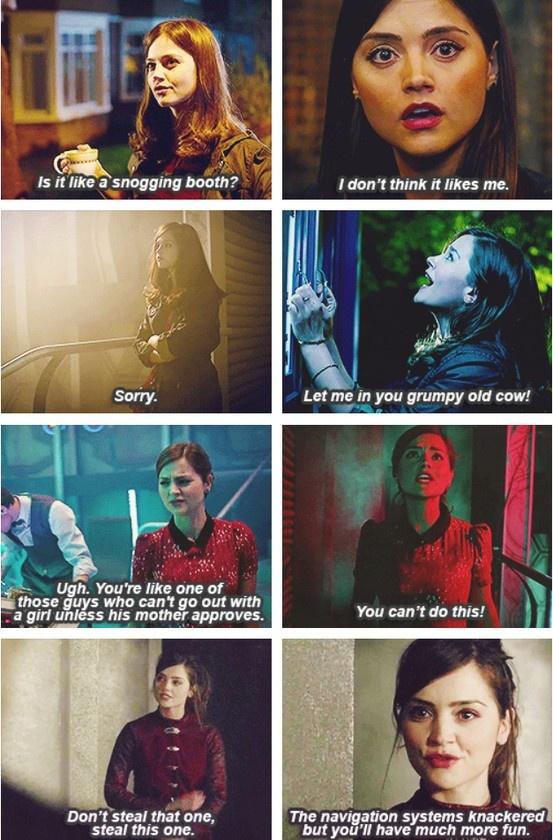 Clara and the TARDIS