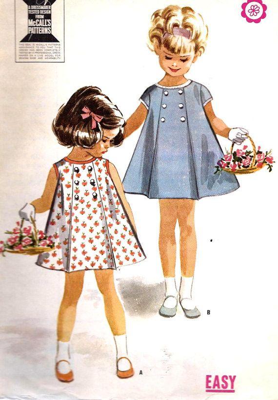 1960s Girls Dress Vintage Sewing Pattern  by MissBettysAttic, $7.00