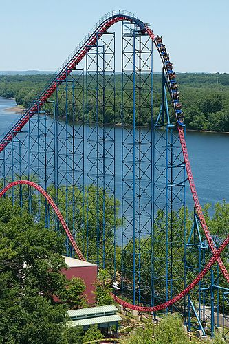 Superman Ride of Steel~Six Flags, New England~After a 221ft drop you see yourself plunging into a black hole at 70mph.