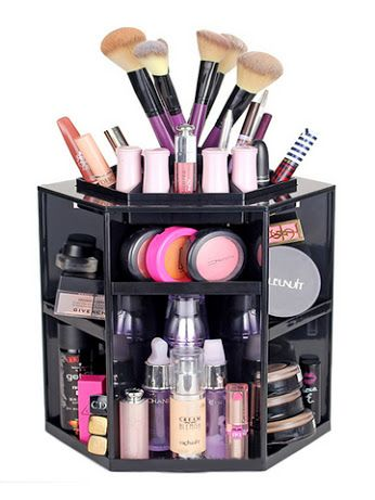 Organize your makeup with this Solid Multi Functional Skin Care Storage Rack: www.teelieturner.com #makeuporganizer