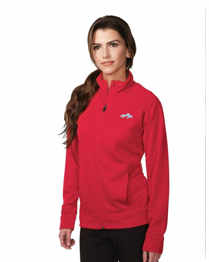 Womens Knit Full zip Jacket (100% Polyester) KL630 Lady Exocet #WomensJacket #FullzipJacket #KnitJacket