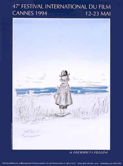 La 47ème édition du Festival de Cannes, en 1994 Auteur de laffiche: Daprès un dessin original de Federico Fellini. Palme dOr:Pulp fiction de Quentin Tarantino