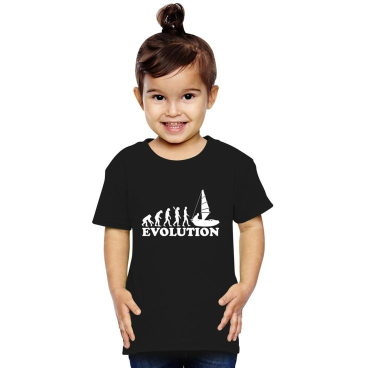 Evolution Of Man Sailing Toddler T-shirt