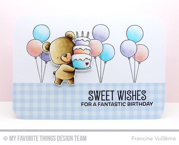 Card by Francine (www.1001cartes.ch) karte, carte, carterie, cardmaking, cardmaker,  crafts, papercrafts, handmade, diy, stamping, #1001cartes, mftstamps, #mftstamps, die-namics, birdie brown, beary special birthday, sweet wishes