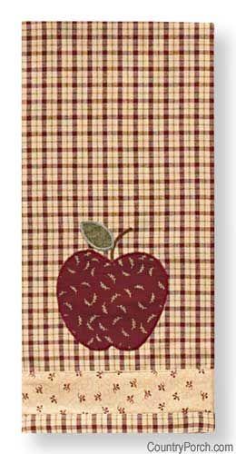 Apple Jack Applique Dishtowel