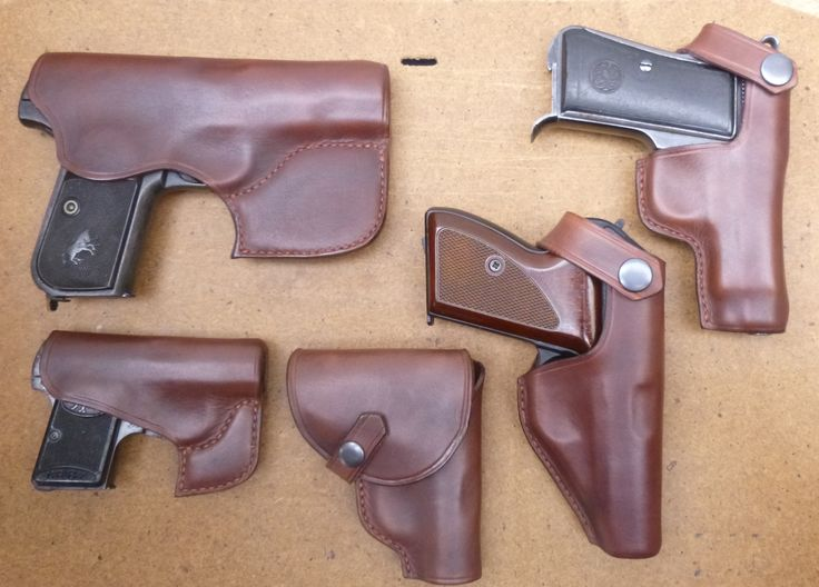 Fitting out a collection with colour matched leather holsters - another handmade custom job by www.makeitjones.co.uk