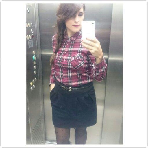 Camisa Cortefiel, Falda Mango