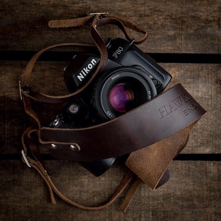 Nikon F80 with our Borough neck strap.