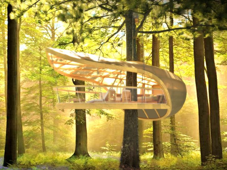 Designed by the Farrow Partnership studio, E'terra Samara is a five-star eco-resort that consists of twelve treehouse villas sensitively nestled into a Canadian Forest.