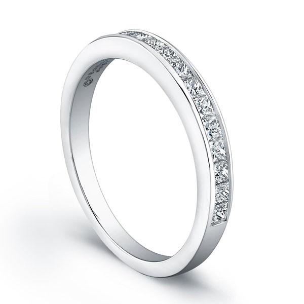 Nice Jeff Cooper RB Wedding Ring This diamond wedding band by Jeff Cooper features channel set princess