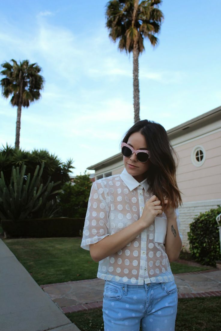 Jzanotti from @Anything With Studs in the Whitney Eve Dot Up Blouse || Get the blouse: