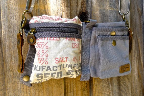 *** Alfalfa Seed *** The unisex versatile Convertible Belt Bag offers tons of ways to wear it AND each bag features material from authentic vintage