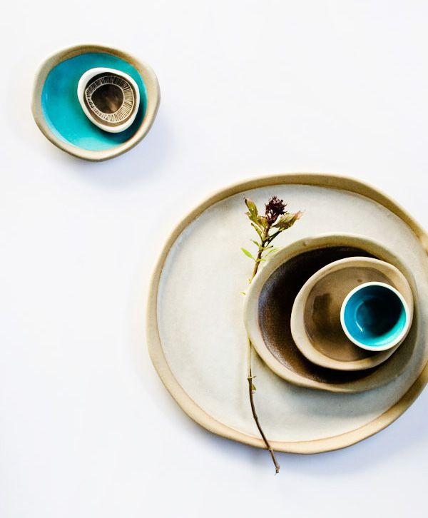 'Ebb Tide' ceramics by Queensland based Kim Wallace. Photo - Karina Jean Sharpe.
