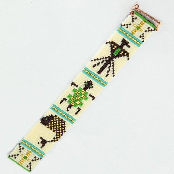 Totem tribal perle Loom Bracelet Bijoux artisanaux par PuebloAndCo