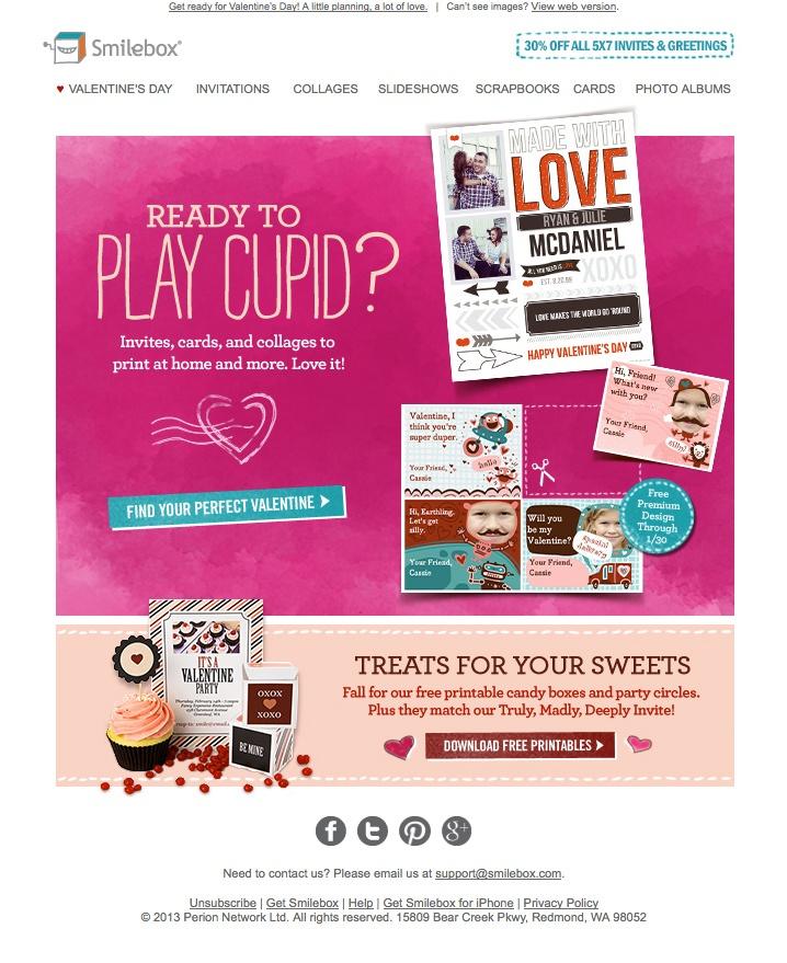 Valentine S Day Email I Designed Smilebox Email Design
