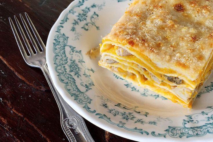 lasagna con zucca e porcini