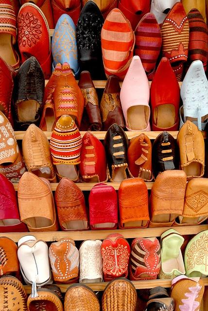 #Morroco #Shoes #Market #Traditional
