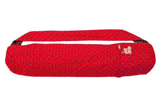 Red Rhythm Yoga mat bag handcrafted from the by SimplyShweshwe