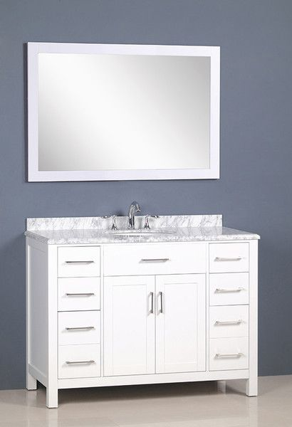 48 white transitional bathroom vanity the vanity store canada 48