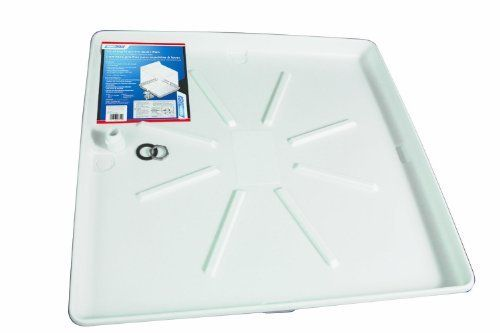 Camco 20756 32-Inch OD x 30-Inch Washing Machine Drain Pan with CPVC Fitting