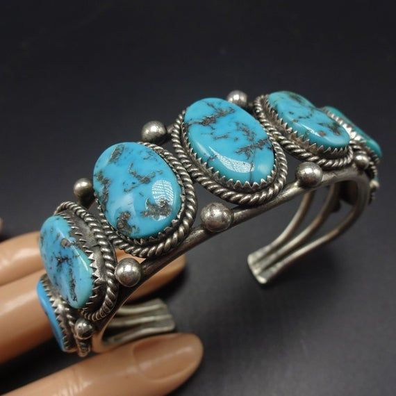 Kingman Turquoise Sterling Silver Cuff