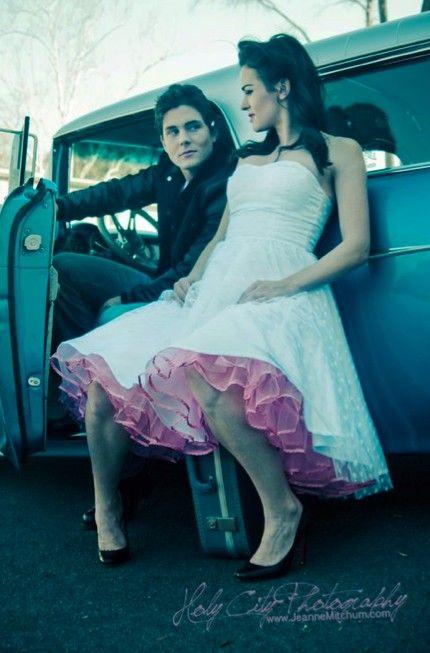petticoat, pink, aqua, wedding, dress, retro, rockabilly, tea, party, tulle, polka, dot, white, sweetheart, sweet, heart, bridal, pastel, color