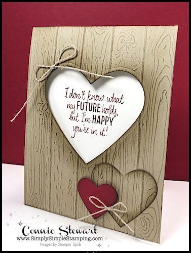 MAKE IT IN MINUTES VIDEO - Pinewood Planks Heart Card - www.SimplySimpleStamping.com June 16, 2017
