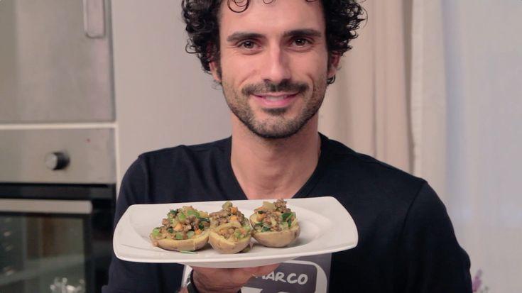 Patate ripiene di verdure e lenticchie