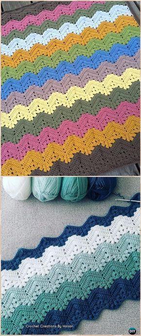 Crochet 6-Day Kid Blanket Free Pattern - Crochet Rainbow Blanket Free Patterns