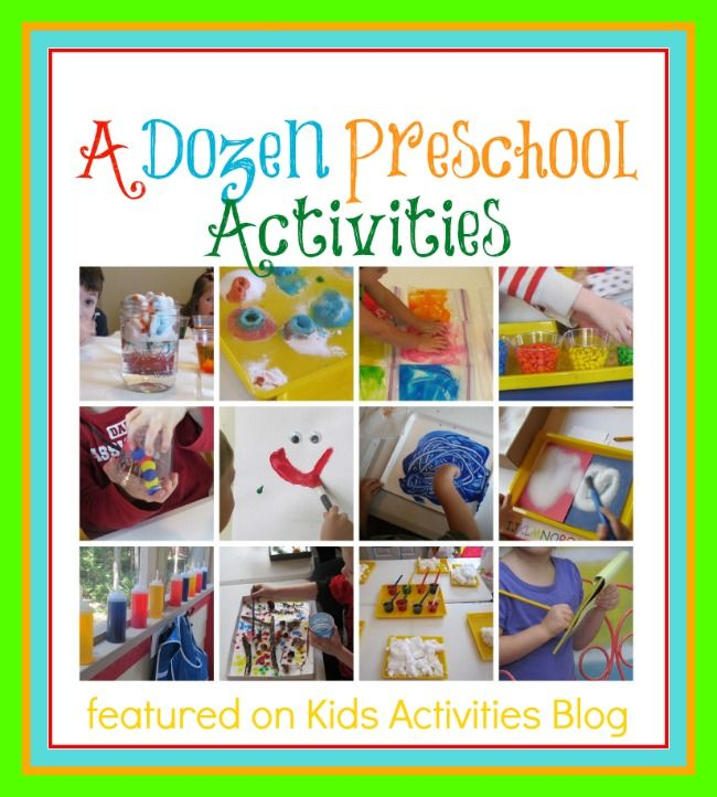 12 great preschool activities. There's some good stuff here, like painting with M's! What fun!