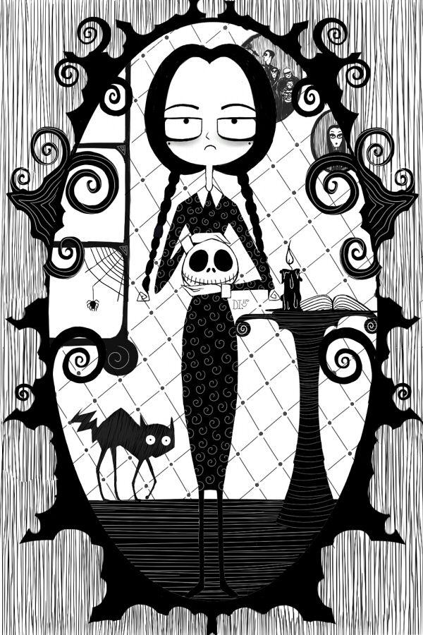 Wednesday Addams/Nightmare  Art Illustration By #daphinteresting