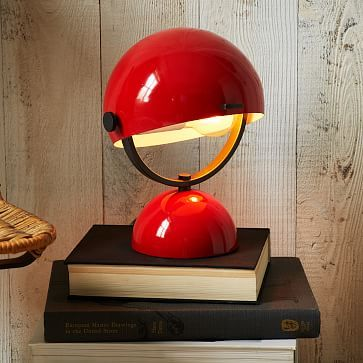 Clint Mini Task Lamp - Red #westelm, tie the red into clock if you decide to keep it, which I encourage