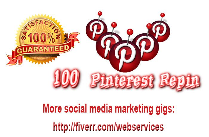 webservices: give 100 Pinterest RePin for your shares within 72 hours for $5, on fiverr.com