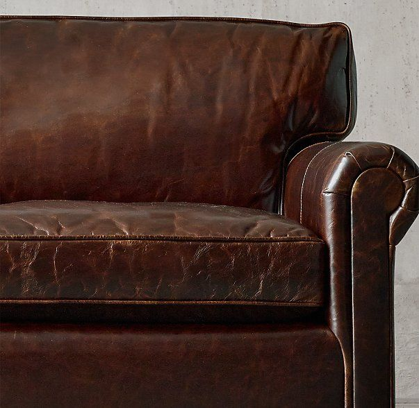 RHs 84 The Petite Lancaster Leather SofaExceptionally Luxurious Features Ultra